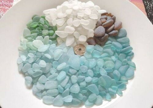 Natural Sea Glass Beach Glass 500g Genuine Japan Surf-Tumbled Tama