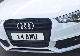 Cherished Private Personalised Registration Private Number Plate X4 AMU