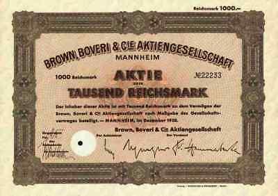 Brown Boveri Mannheim BBC ABB 1938 Zürich Västeras ASEA 1000 RM Västeras Schwede