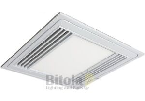 square bathroom exhaust fan with light brilliant tercel led exhaust fan 13w light white square 25774
