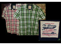 2 Checked Men's Short Sleeve Shirts £3 The Lot!