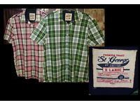 2 Checked Men's Short Sleeve Shirts
