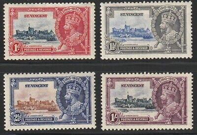 St. Vincent   1935   Sc # 134-37   Silver Jubilee   MLH   OG   (4035-1)