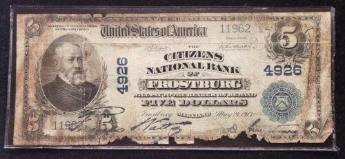 1902 $5 National Citizen