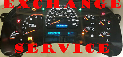 2003 2007 GMC SIERRA CHEVY SILVERADO INSt CLUSTER EXCHANGE 15114652