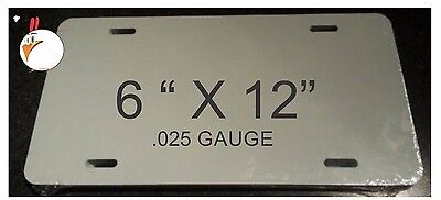 120 Pieces Aluminum License Plate Sublimation Blanks 6x12 New Best Quality