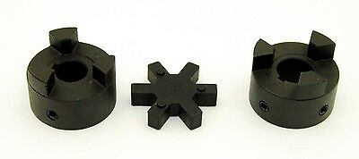 12 To 1 L095 Flexible 3-piece L-jaw Coupling Coupler Set Rubber Spider