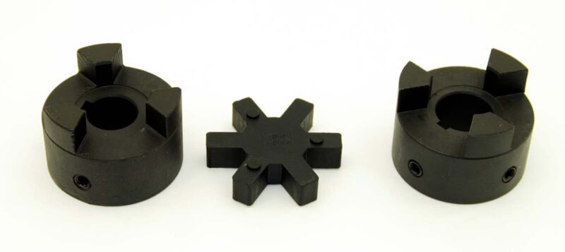 """1/2"""" to 1"""" LO95 3-Piece L-Jaw Coupler Set & Rubber Spider 0.50 to 1.0 L095"""