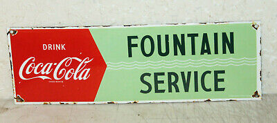 Coca Cola Fountain Service Vintage Style Porcelain Signs Country Store Station
