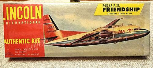 RARE Lincoln International Model Aircraft Kit FOKKA F 27 FRIENDSHIP 1950 NOS NEW