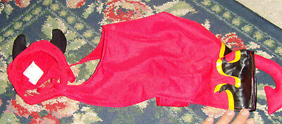 Devil small cat or dog Halloween or novelty costume hat and body with tail Satan (Halloween And Satanism)