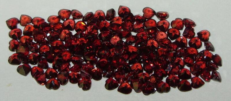 4mm Calibrated Orange Red Malaya Garnet Heart Cut