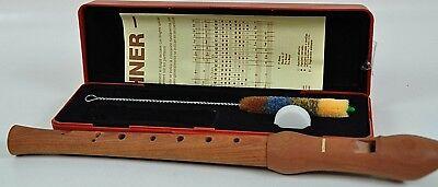 Hohner Blockflöte Holzblockflöte Flöte unbenutzt mit Zubehör Musik 11CBF