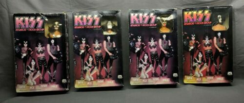 lot of 4 1978 Mego Corp KISS America's #1 Rock Group Gene Simmons Ace Paul Peter