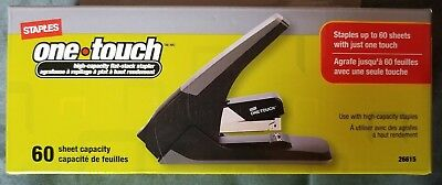 Staples One-touch 60 Sheet Stapler New