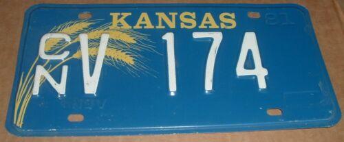 1981 Kansas License Plate CN V 174 Cheyenne County Car Tag