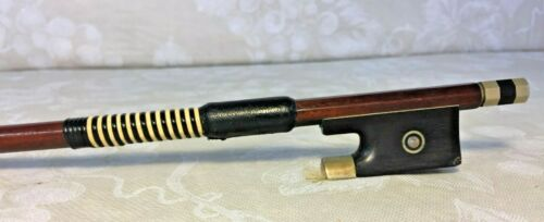Antique Violin Bow Maker Marking Not Legible Round Shaft Germany