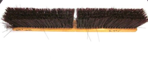 "NOS! MAGNOLIA 24"" FLOOR BRUSH COARSE BROWN POLYSTRENE 3"" BRISTLES"