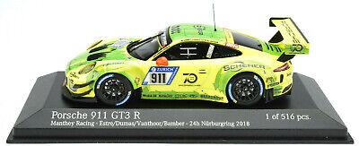 1:43 MINICHAMPS 2018 PORSCHE 911 991 II GT3 R #912 Manthey Racing 1st 24h NBR !