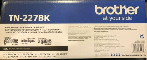 Brother Genuine TN-227BK, Black High Yield Toner Cartridge  TN227BK - FREE SHIP