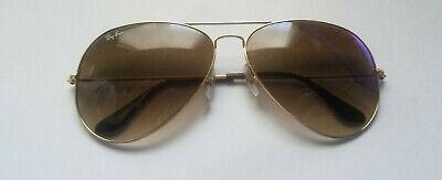Ray Ban Original Aviator Brown Gradient Sunglasses RB3025 001/51 62-14 USED