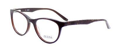 GUESS GU2416 BRN Women's Eyeglasses Frames Cat-eye 50-17-135 Brown + Case