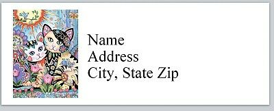 Personalized Address Labels Abstract Cats Buy 3 Get 1 Free P 633