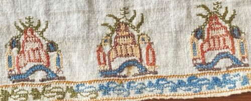 Antique Ottoman Embroidered Table Runner  WW267