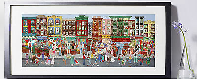 (Orchard Street, NYC Art Reproduction 8x10