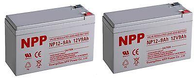 NPP 12V 9Ah 12Volt 9amp Rechargeable  SLA Battery  CP1290 PS-1290  F2 / (2pcs)