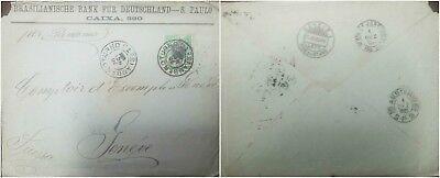 O  1908 Brazil  Liberty Head Scott A42a  300 Reis Green  Ambulante Nocturno D E