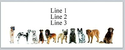 Personalized Address Labels A Row Of Dogs Buy 3 Get 1 Free Jx 545
