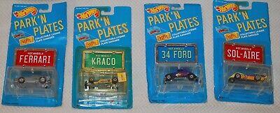 Hot Wheels Lot PARK 'N PLATES -Ferrari-Kraco-34 Ford-Solaire