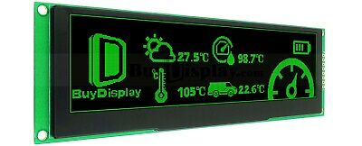 Green 5.5 Inch Arduinoraspberry Pi Oled Display Module 256x64 Spi Wtutorial