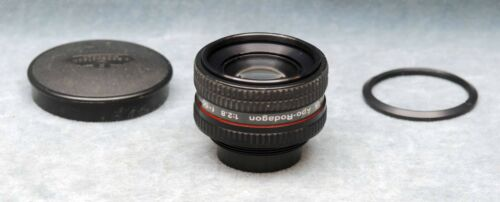 RODENSTOCK APO-RODAGON 50MM F2.8 PHOTOGRAPHIC ENLARGING LENS W/RING & CAPS