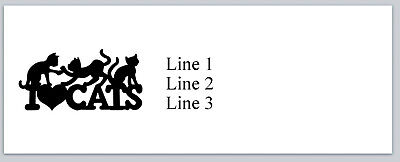 Personalized Address Labels I Love Cats Buy 3 Get 1 Free P 742
