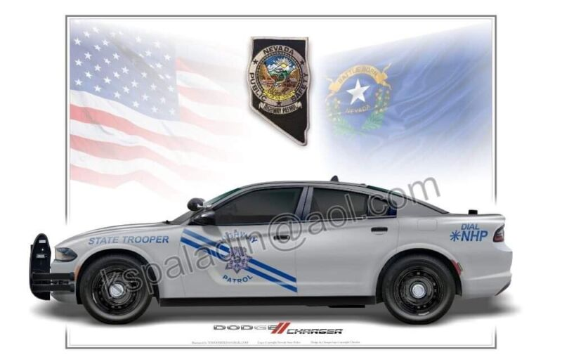 Nevada Highway Patrol Dodge Charger Poster Print