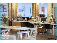 Coworking Creative Desk Space and studios available in Dalston (E8)JOIN NOW GET ONE MONTH FREE