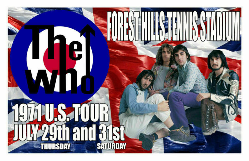 THE WHO REPLICA *FOREST HILLS* 1971 CONCERT POSTER