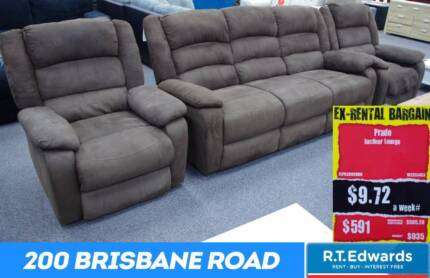 Prado 3 Seater Lounge + 2 Recliners