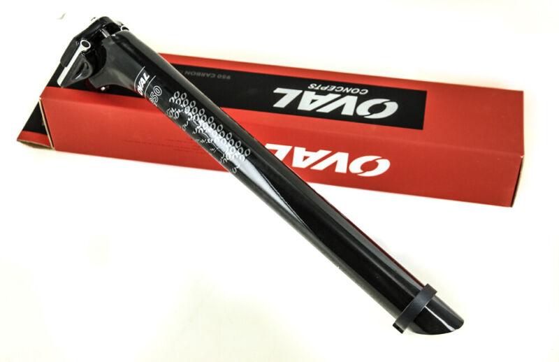 Oval Concepts 950 31.6 31.6mm x 350mm  20mm Carbon Fiber Road Bike Seat Post NEW