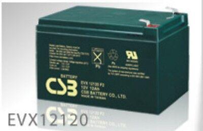 BATTERY COMPATIBLE WERKER WKA12-12F2  EVX12120 2 EACH