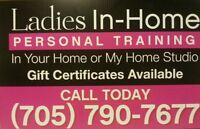 LADIES IN-HOME PERSONAL TRAINING-BARRIE