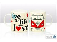 Official VW 'Live the Life you Love' Camper Van Mug Volkswagen Tea Coffee Gift