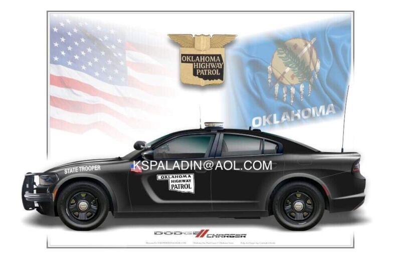 Oklahoma Highway Patrol Dodge Charger Poster Print