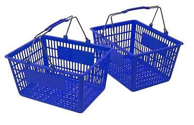 New Shopping Basket Set Set Of 2 Blue