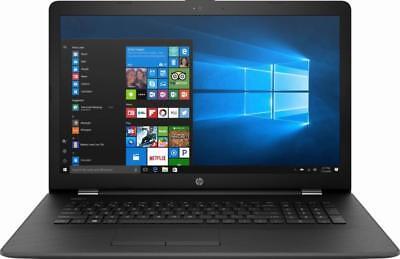 New HP 17.3 Laptop i5-7200U 8GB RAM 1TB HDD DVD HDMI Bluetooth HD Webcam Win10
