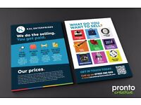 PROFESSIONAL LEAFLET DESIGN, PRINT AND DISTRIBUTION – GET MORE LEADS AND SALES