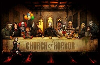 CHURCH OF HORROR - MOVIE ART POSTER - 24x36 LAST SUPPER BIG CHRIS 53170