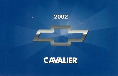 2002 Chevrolet Cavalier Owners Manual User Guide Reference Operator Book Chevrolet Cavalier Owners Manual